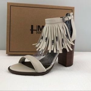 HMLA womens leather heeled sandals